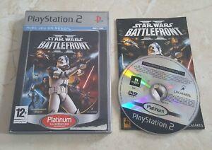 Jeu Playstation 2 ps2 Star Wars Battlefront II 2 complet notice