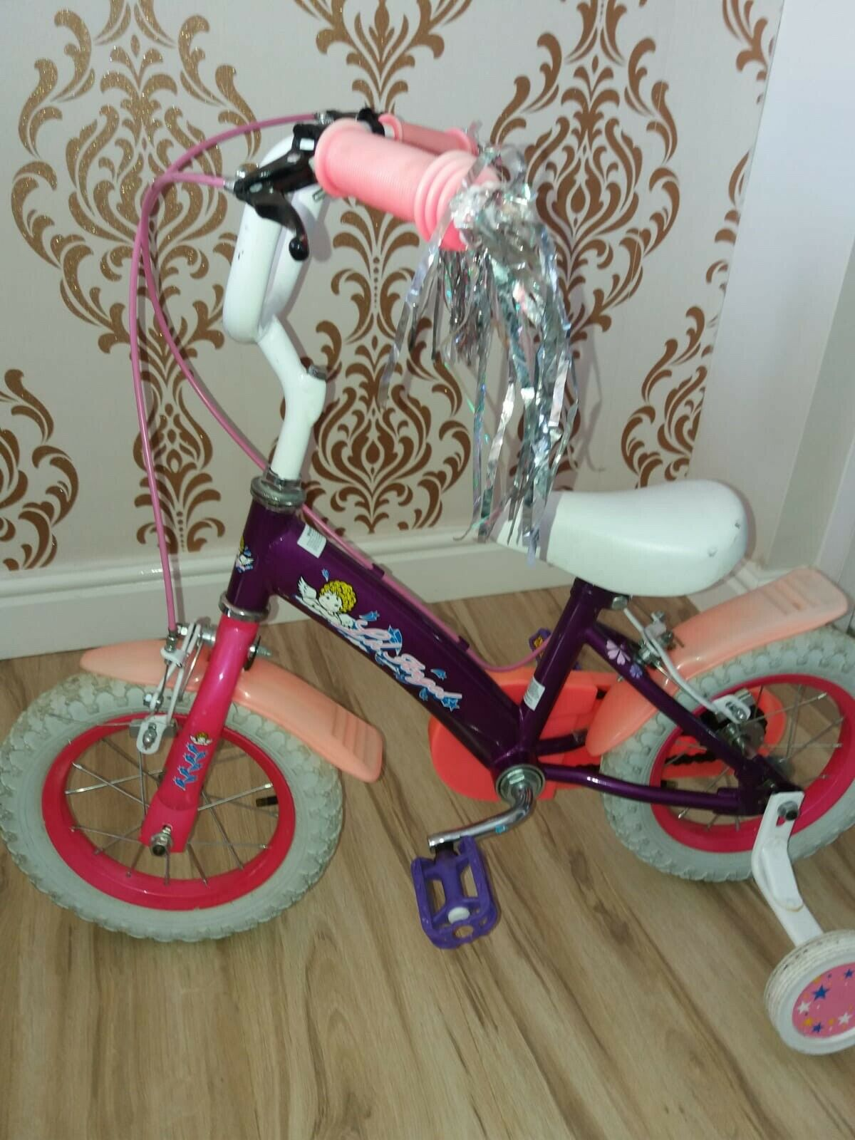 "Pink Girls Bike 12"" Age 3-5 with Stabilisers"
