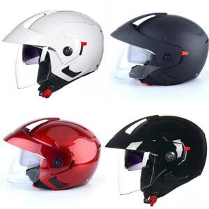 Motorcycle Helmet Half Open Face w/Dual Sun Visor Unisex Jet Helmet S/M/L/XL/XXL