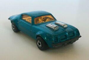 Lesney-Matchbox-No-4-Pontiac-Firebird-Superfast-Blue-Orange-Windows-Loose-Car
