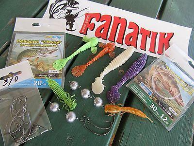 READY to Fish FANATIK Set 32pcs offset-jig heads lures