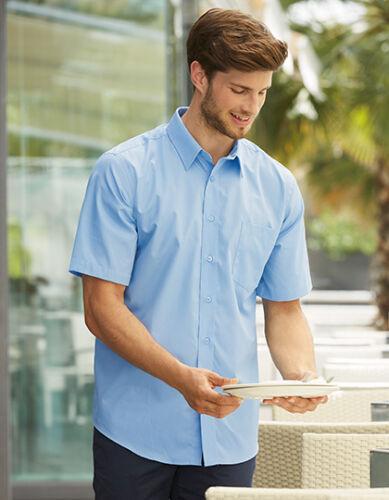 Uomo Camicia uomo superiore Camicia A Maniche Corte Camicia Taschino FRUIT OF THE LOOM S - 3xl