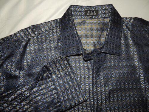 CDS Creme De Silk Couture men's 100% Silk shirt si