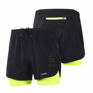 Men-039-s-2-in-1-Running-Shorts-Men-Sports-Short-Quick-Drying-Training-Exercise-Run