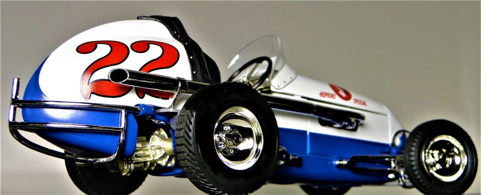 precios bajos 1 Racer 1960s Vintage Race Coche Sport Sport Sport Grand Prix F Indy 500 Sprint enano suciedad Metal Azul  deportes calientes