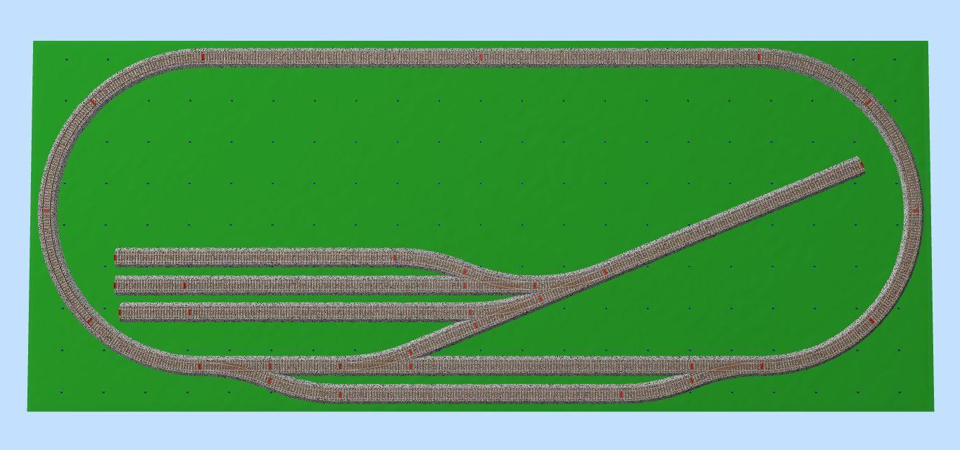 Pista ferroviaria plástico HO Lima BINARIO set piu' tren