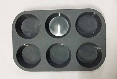 6 Cup Silicone Non-stick Muffin Cupcake Pudding Pastry Baking Mould Pan Tray #L