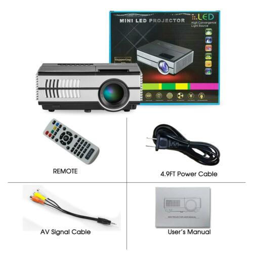 Android WiFi Home Theater HD Projector Bluetooth Backyard Movie Video HDMI USB