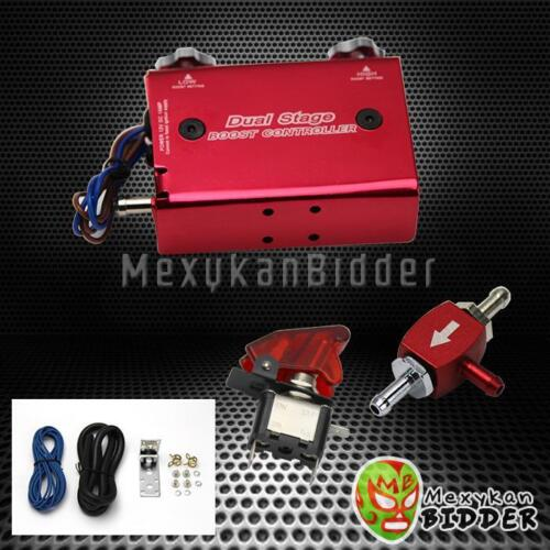 Universal Red Adjustable Turbo Dual Stage Manual Boost Controller Mitsubishi