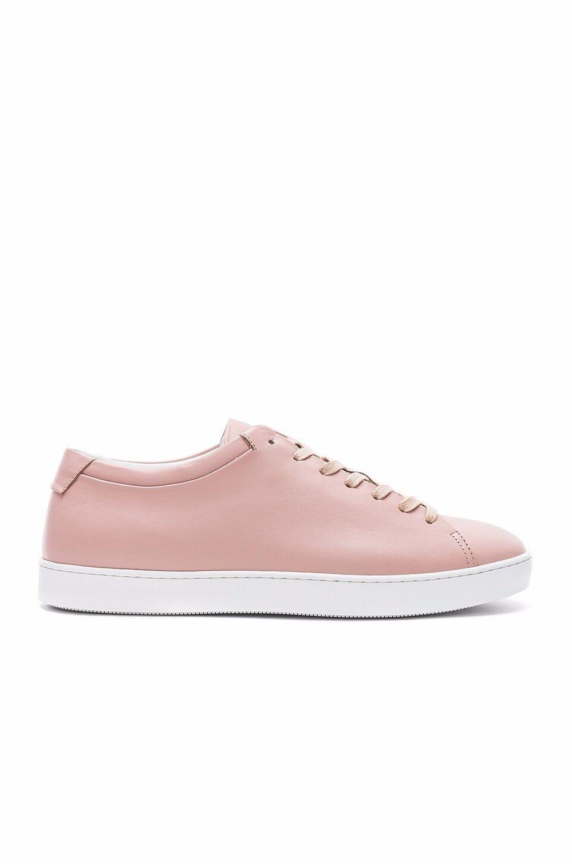 John Elliott Pink Leather Low Top