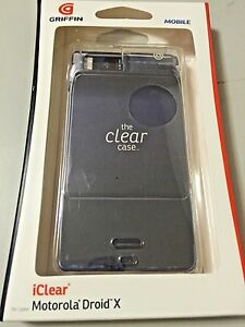 Griffin-iClear-hard-shell-case-for-Motorola-Droid-X-Screen-Protectors