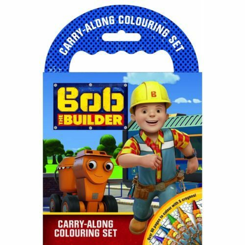Bob The Builder Carry Along Colouring Set With Crayons Travel Stocking Filler