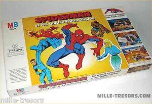RARE-Jeu-SPIDERMAN-et-les-4-fantastiques-Jeu-de-poursuite-pour-Super-Heros