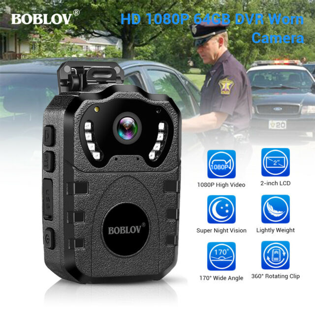 1080P HD Police Body Camera IR Waterproof Night Vision for Law Enforcement 64GB