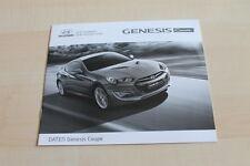 129048) Hyundai Genesis Coupe - Preise & t. Daten & Ausstattungen - Prospekt 02/