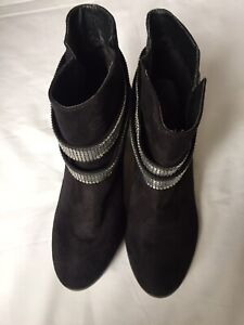 Black Ankle Boots Size UK 3