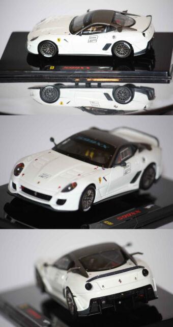 Hotwheels Elite Ferrari 599xx 2009 White 1/43 T6265