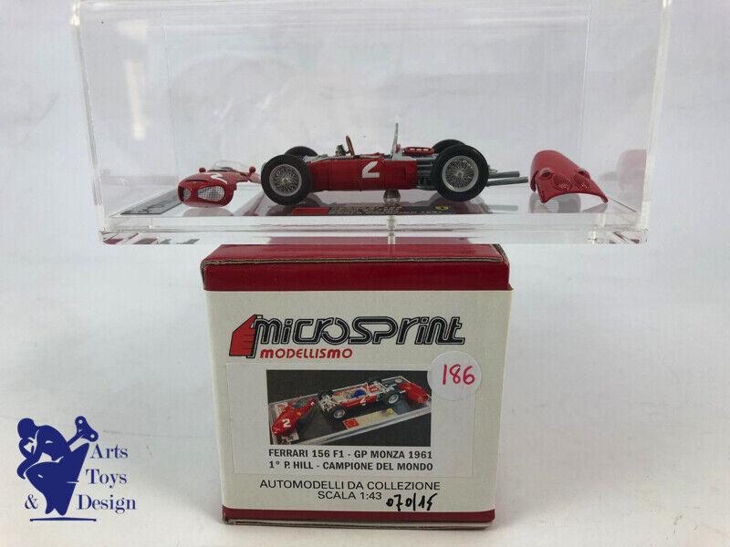 1 43 tameo microsprint ferrari 156 f1 gp monza 1961 1st p. hill factory built