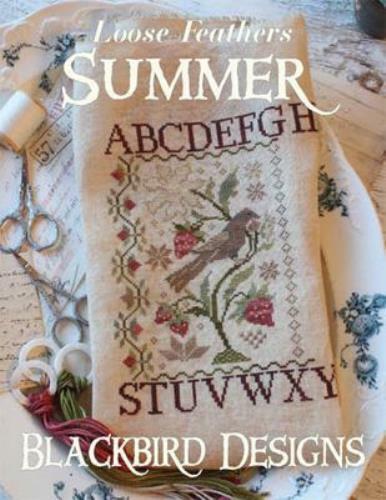 Summer Loose Feathers by Blackbird Designs cross stitch pattern