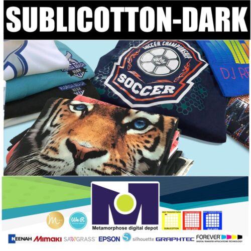 "SUBLICOTTON-DARK HEAT TRANSFER PAPER  5 Sh 8.5/""X11/"""