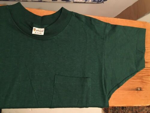 Vintage 60s MAYO SPRUCE 100% Cotton Forest Green P