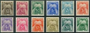 Francia-Stamp-Tassa-Yvert-N-78-89-034-Mazzi-12-Francobolli-034-Nuovo-Xx-Lusso-A082