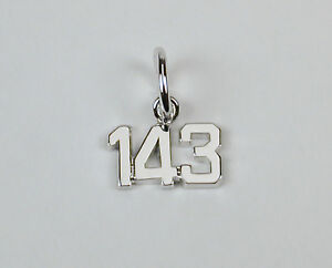 Sterling-Silver-143-Charm-143-I-Love-You-Free-U-S-Shipping-amp-Zipper-Pull
