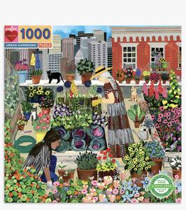 Eeboo-URBAN-GIARDINAGGIO-1000-PZ-Pezzi-Puzzle-SIGILLATO-Nuovo-di-zecca-e-piante