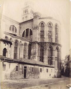 Venezia-Santa-Maria-Gloriosa-Dei-Frari-Italia-Foto-1-Vintage-Albumina-Ca-1875