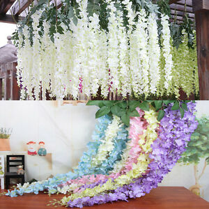 15 strings 43 silk wisteria flowers wedding arch gazebo decoration image is loading 15 strings 43 039 039 silk wisteria flowers mightylinksfo Choice Image