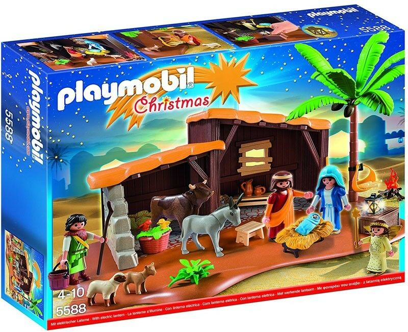 Playmobil Christmas Nativity Stable with Manger Set  5588