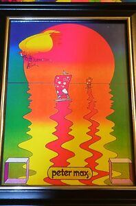 PETER-MAX-TITLE-A-BEAUTIFUL-SUMMER-DAY-PRINT-5X7-FRAMED