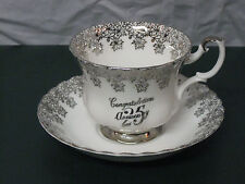 Royal Albert 25th Anniversary Tea cup and Saucer