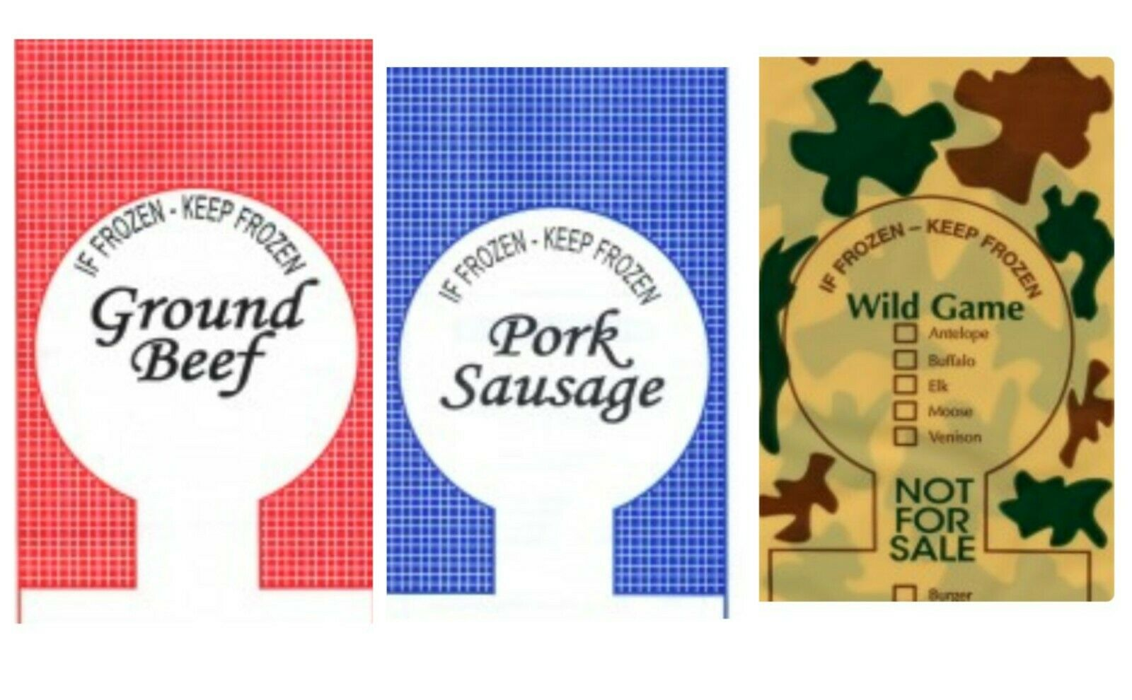 STAINLESS STEEL MEAT PACKING KIT INCLUDES TAPE 200 2LB PORK SAUSAGE BAGS