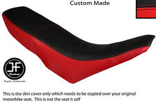 RED AND BLACK VINYL CUSTOM FITS GILERA GSM 50 DUAL SEAT COVER ONLY