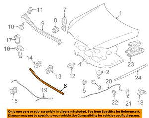 Genuine Mercedes C300 Front Seal Gasket Engine Hood Seal 2048800297