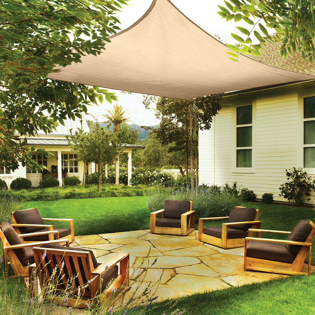 Sun Shade Sail UV Block Outdoor Canopy Patio Garden Yard Pool Cover Rectangle