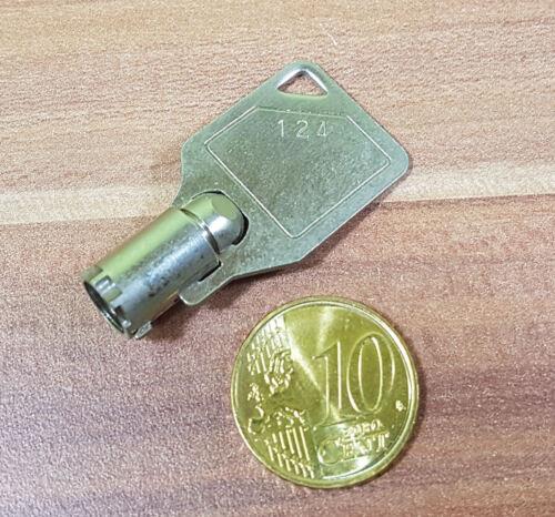 Runder Schlüssel No.124 Mailbox Diskettenbox Netzschalter Aufzug Docking etc.