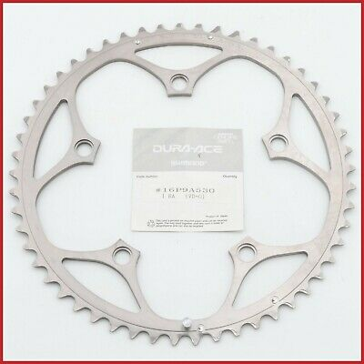 NOS SHIMANO 53t DURA ACE 7700 CHAINRING BCD 130 VINTAGE ROAD 9sp TEETH 90s NEW
