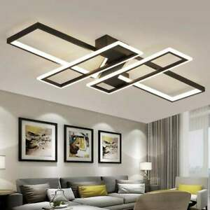 Details about Modern style acrylic LED ceiling light square living room  lighting chandelier