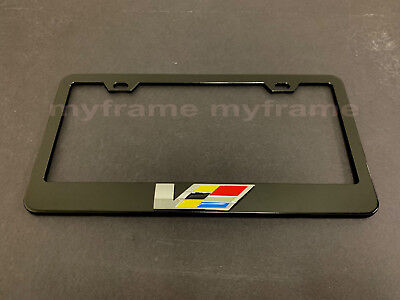 "1pc 3D /""CTSV/"" V Emblem Stainless Steel Chrome License Plate Frame Holder COLOR"