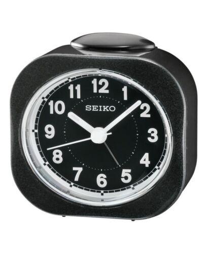 QHE121 lumineux de Chevet Bip Alarme Balayage Silencieux Secondes Horloge Authentic Seiko