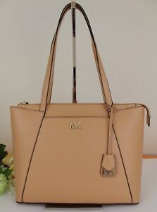 e00f095a00d0 NWT Michael Kors Maddie Medium East West Leather Tote Butternut ...