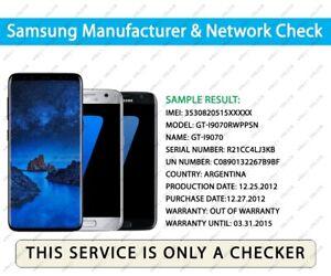 Details about Check IMEI Samsung Network Finder & Sim Lock Status GSX  Checker