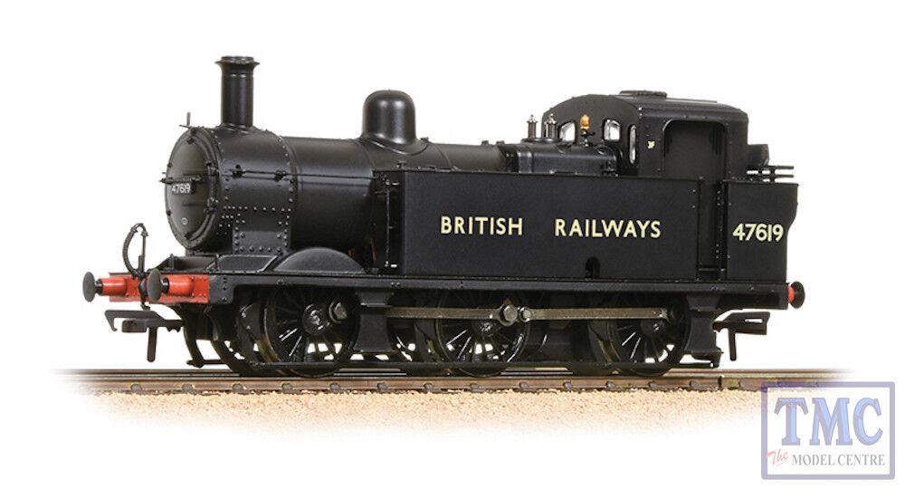 32-236 Bachmann OO Gauge Fowler Class 3F (Jinty) 47619 BRITISH RAILWAYS negro