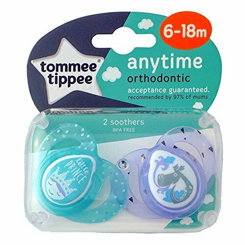 Tommee Tippee Anytime Soothers 6-18m Little Prince