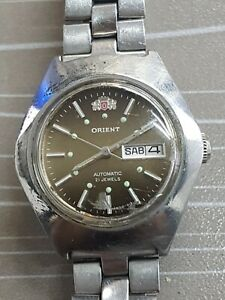 VINTAGE-Donna-Orient-Automatic-21-Jewels-giorno-data-Orologio-da-polso