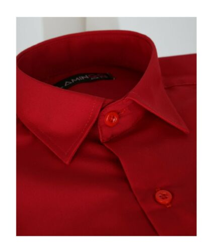 Page Boys Wedding Prom Party Communion Long Sleeve Classic Collar Red Shirt
