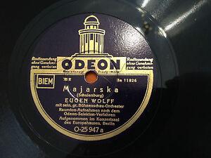 EUGEN-WOLFF-Majarska-Chinesische-Legende-78rpm-RARE-GERMAN-10-c1938-NMINT