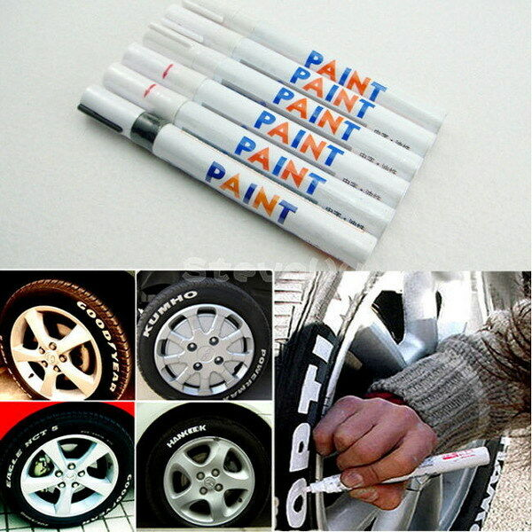Hot 9 Colore Tyre Permanent Paint Pen Tire Metal Outdoor Marking Ink Marker Y